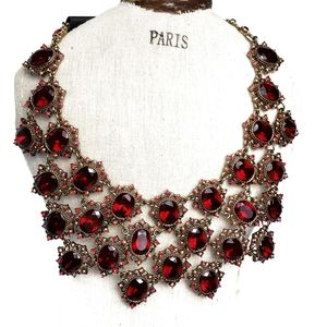 Bebe Red Statement Necklace NWT